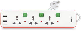 Trion Power Strip with Dual USB Adaptor  Individual Switch