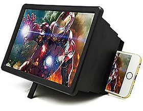 KSS 3D F2 Mobile Phone 3D Screen Magnifier Video Screen Amplifier Eyes Protection Stand Holder- Multicolor