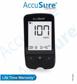 Accusure GLUCOSE MONITOR SENSOR WITH 25 STRIPS ( STRIPS EXP - AUG 2022)