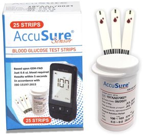 AccuSure Sensor 25 Strip pack only ( Expiry AUG 2022)