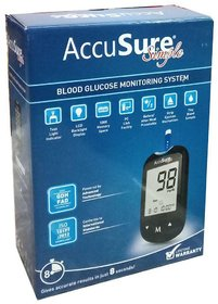 Accusure GLUCOSE MONITOR SIMPLE WITH 25 STRIPS ( STRIPS EXP - JAN 2022)