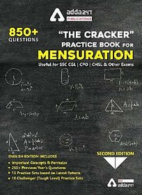 The Cracker Practice Book for Mensuration (In English Printed Edition) by Adda247 Publications