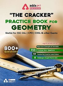 The Cracker Practice Book for Geometry (English Edition Printed Edition) by Adda247 Publications