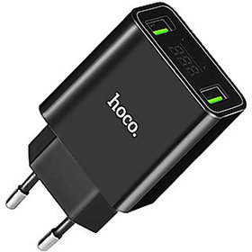 HOCO C25A Dual USB Cool Double port power adapter charger for smartphone device