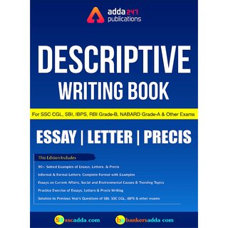Descriptive Writing Book for SSC, IBPS PO and other Bank Exams (English Printed Edition) by Adda247 Publications