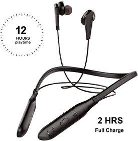 S4 Neckband in-Ear Wireless Earphones with 12 Hours Playtime IPX4 Sweatproof Headphones Latest Bluetooth 5.0