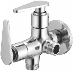 Joyway Vista 2 in 1 Angle Cock Brass, Two Way Angle Valve Stop Cock