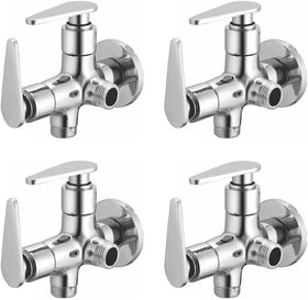 Joyway Vista 2 in 1 Angle Cock Brass, Two Way Angle Valve Stop Cock (Pack of 4 Pieces)