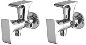 Joyway Swift 2 in 1 Angle Cock Brass, Two Way Angle Valve Stop Cock (Pack of 2 Pieces)