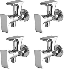 Joyway Swift 2 in 1 Angle Cock Brass, Two Way Angle Valve Stop Cock (Pack of 4 Pieces)