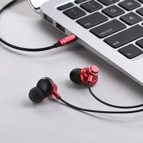 Azonmart Wired earphones 3.5mm M44 Magic sound with microphone by Hoco Brand  (Multicolor)