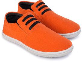 Kzaara Men's Orange Sneakers