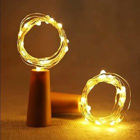 S4 20 LED Wine Bottle Cork Copper Wire String Lights 2M/7.2FT Battery Operated (Warm White)