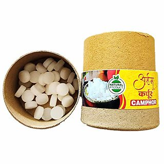 Arham 15g Each Puja Pure Refined Camphor Tablets for Spiritual Hindu Pooja  Kapoor (Pack of 4)