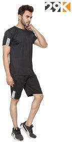 29K Men Casual T-Shirt -Short Combo (Black)