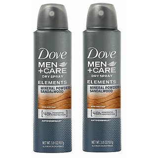 Dove Men Care Mineral Sandalwood Deo Spray - 150 ML (Pack of 2) Made in Germany