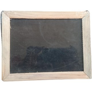 Slate for Kid's Learning with Wooden Frame Black Board Pack of 1