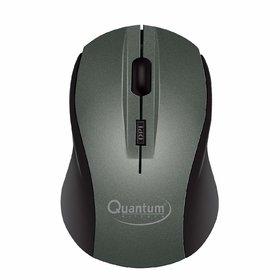 Quantum QHM262W Optical Wireless USB Mouse with 1600DPI (Grey)