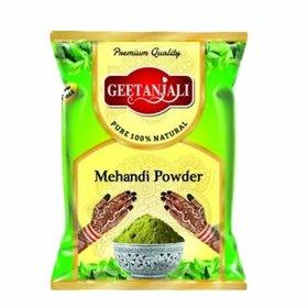 Geetanjali Natural Mehndi Henna Powder for Hand, Feet  Hair, Natural Hair color, Zero Chemicals, 400 gm