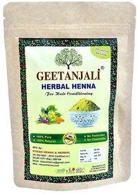 Geetanjali Organic Henna powder for hair care, Natural Hair color, Zero Chemicals, 400 gm