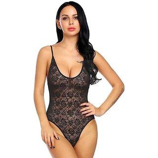 Sexy Nighty Black Nighty Top Set for Ladies FREE SIZE (Art no. Jahar Black Bodysuit)