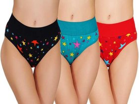 Women Hipster Multicolor Panty  (Pack of 3)