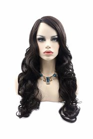 Shaear Hairs  Black premium Synthetic hair wig for Women(size 26,Black)