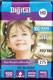 photo paper 4x6, 275 gsm 100 sheet high glossy photo paper