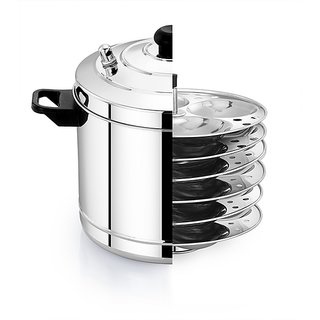 Mahaa Store Stainless Steel Kitchenware Idly Cooker  Idli Maker -6 PLATE
