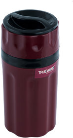 Trueware Tuff Flask 300 Ml (Assorted Colour) { Gray, Maroon, White, etc}