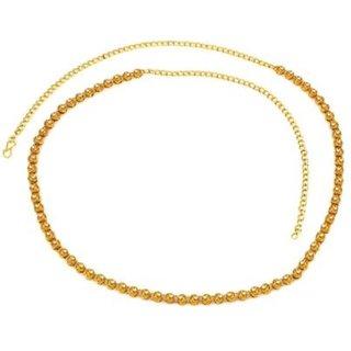 Designer CZ Golden Stone Waist Chain Belly Chain Kamar Band
