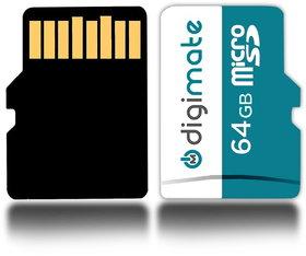 Digimate 64 GB Class 4 MicroSD Card