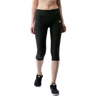 Atheltiqo Womens Grey Knee Length Capri