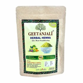 Geetanjali Herbal Henna powder for hair care, Natural Hair color, Zero Chemicals, pack of 2, 400 gm
