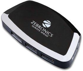 Zebronics Zeb-500 HB 4 Port USB Hub for Laptop, PC Computers, Plug Play,Backward Compatible,Optional Power Adapter Port