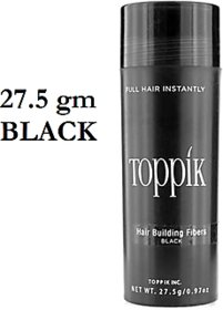 Top-pik Hair Building Fibers 27.5Gm Black Color Covers Baldness and Hair Loss Solutions!!