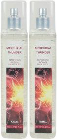 Ajmal Mercurial Thunder + 4 Parfum Testers Eau De Toilette  -  500 Ml (For Men & Women)