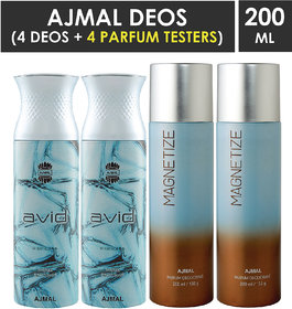 Ajmal 2 Avid And 2 Magnetize Deodorants (4 Items In The Set)