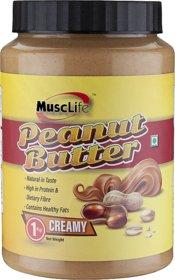 Musclife Creamy Peanut Butter-1kg (Creamy 1Kg)