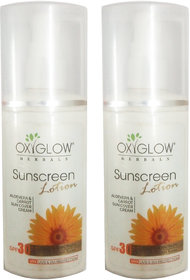 Oxyglow Herbals sunscreen lotion spf 30 (100 ml) (2 Pcs)
