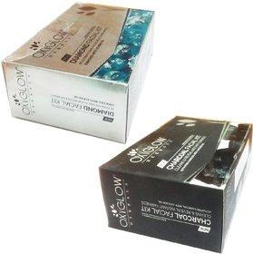 Oxyglow  Herbals Diamond facial kit (60 gm) (1 Pcs)+ Oxyglow Charcoal facial kit (60 gm)(1 Pcs)