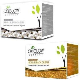 Oxyglow Herbals Pearl bleach cream (240 gm) (1 Pcs)+ Oxyglow Herbals Gold bleach cream (240 gm) (1 Pcs)