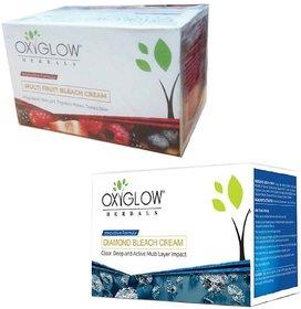 Oxyglow Herbals Diamond bleach cream (240 gm) (1 Pcs)+ Oxyglow Herbals multi fruit bleach cream (240 gm) (1 Pcs)