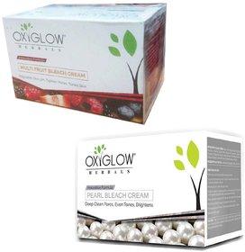 Oxyglow Herbals pearl bleach cream (240 gm) (1 Pcs)+ Oxyglow Herbals multi fruit bleach cream (240 gm) (1 Pcs)