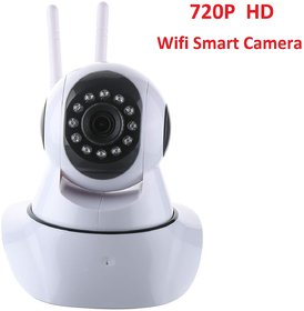 V380 HD 720P Night Vision Wireless WiFi IP Camera with 2 Way Audio and Upto 64 GB SD Card Support with Dual Antenna