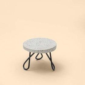 Casa Dcor Marble Cake Stand Planter Stool Small Garden Table for Multi Purpose