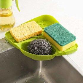 EREIN Kitchen Sink Storage tool Corner Storage Rack Sponge Holder Wall Mounted Dishes Drip Rack