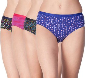 Women Hipster Multicolor Panty  (Pack of 4 )