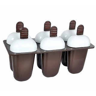 Lazywindow Plastic Reusable Multicolor Popsicle Molds / Kulfi Maker Mould Set of 1