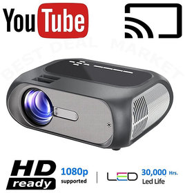 2021 New Version HD Smart 3D Projector 4K 1080P - Built in Youtube, Wifi, HDMI,VGA,AV IN,USB, Miracast/Airplay